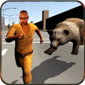 play bear attack simulator 3D icon