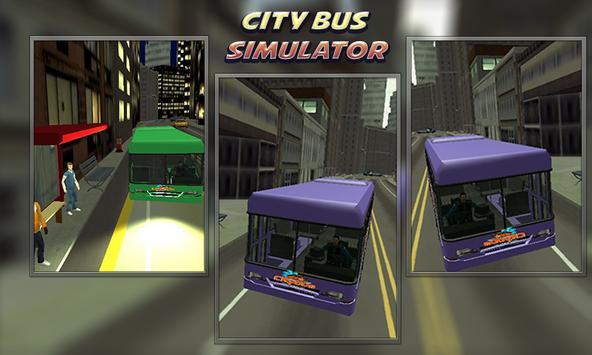 Bus simulator City Driving 2018 poster