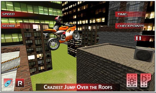 City Bike Roof Jumping 2016 screenshot 1