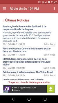 Rádio União 104 FM apk screenshot