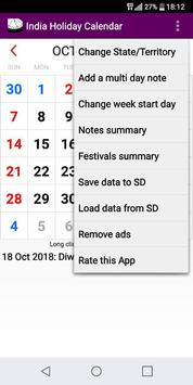 2019 india national stateut holidays calendar apk screenshot
