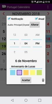 Calendário Feriados Nacionais 2019 Portugal screenshot 2