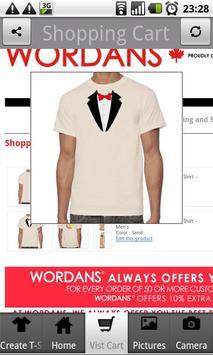Custom T-Shirts - Wordans apk screenshot
