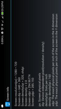 Screen Info screenshot 1