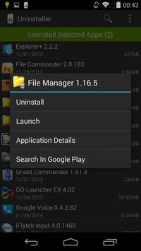Uninstaller apk screenshot