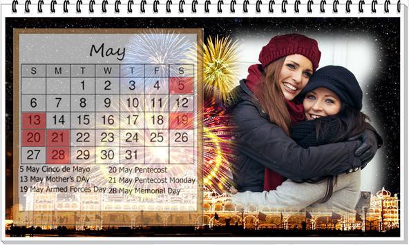 Calendar 2018 photo Frame Wallpaper HD screenshot 3