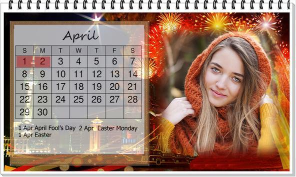 Calendar 2018 photo Frame Wallpaper HD screenshot 1