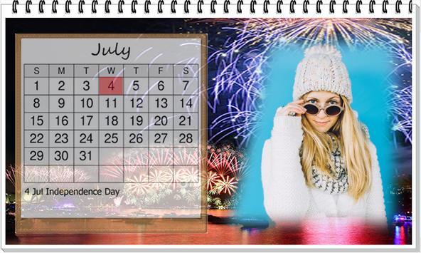 Calendar 2018 photo Frame Wallpaper HD screenshot 2