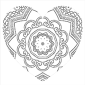 Love Heart Line Drawing Wallpapers icon