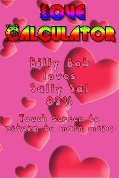 The Love Calculator apk screenshot