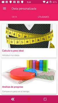 Dieta personalizada para perder peso y adelgazar screenshot 2