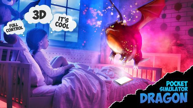 3D Dragon pocket pet simulator poster