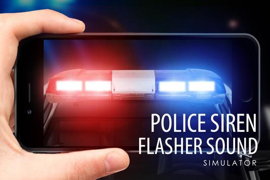Police siren flasher sound poster