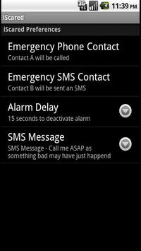 iScared Personal Security screenshot 2