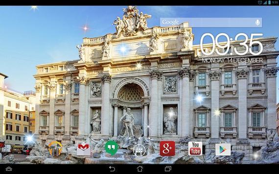 Trevi Fountain Rome Live WP screenshot 2