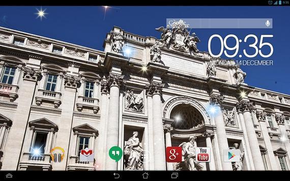 Trevi Fountain Rome Live WP screenshot 3