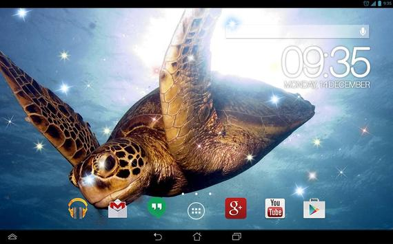 Underwater Turtles Live WP スクリーンショット 4