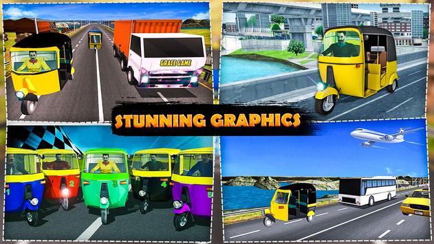 Extreme Rickshaw Traffic Challenge 2017 apk screenshot