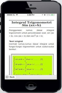 Integral Trigonometry Sin (ax + b) screenshot 3