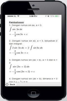 Integral Trigonometry Sin (ax + b) screenshot 5