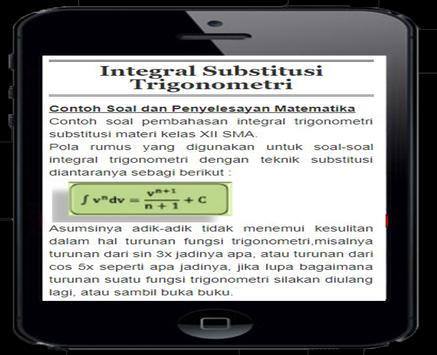 Integral Substitution Trigonometry apk screenshot