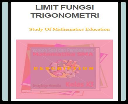 Limit Trigonometry Functions poster