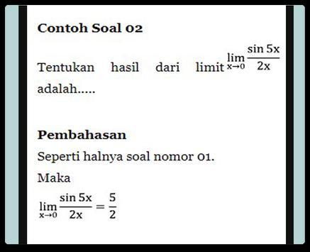 Limit Trigonometry Functions screenshot 2