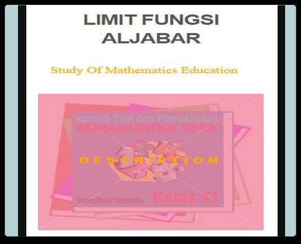 Limit of Algebra Functions poster