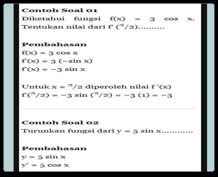 Derivative Trigonometry Function apk screenshot