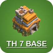 New COC Town Hall 7 Base icon