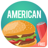 American cookbook - American food recipes icon