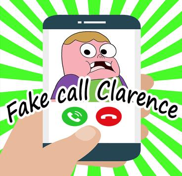 Fake call From clarencee for kids poster