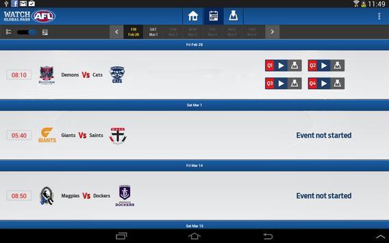 Watch AFL Global Pass screenshot 4