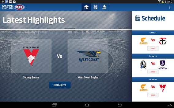 Watch AFL Global Pass screenshot 3