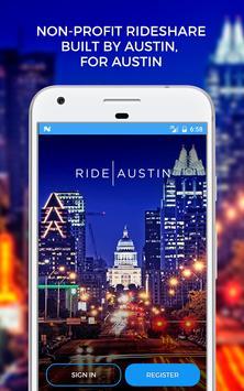 Ride Austin Non-Profit TNC poster