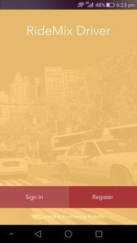 Ridemix Driver app poster