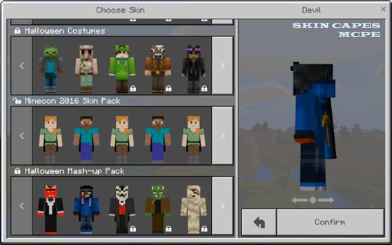 Custom Skin In Capes for MCPE poster