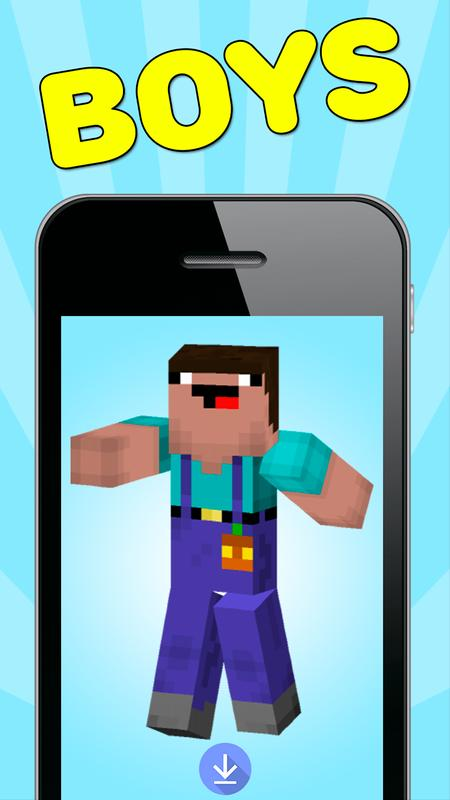 Noob Skins For Minecraft PE For Android APK Download - Descargar skins para minecraft pe noob