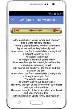 Air Supply Lyrics apk screenshot
