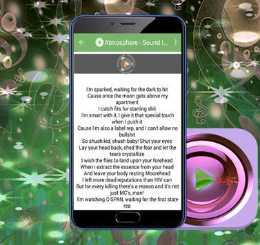 Atmosphere Lyrics And Hits apk screenshot