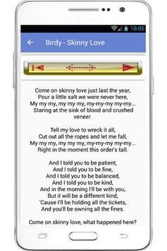 Birdy Lyrics And Song apk screenshot