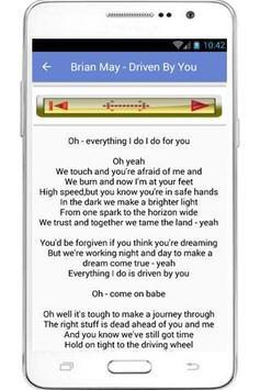 Brian May Lyrics apk screenshot