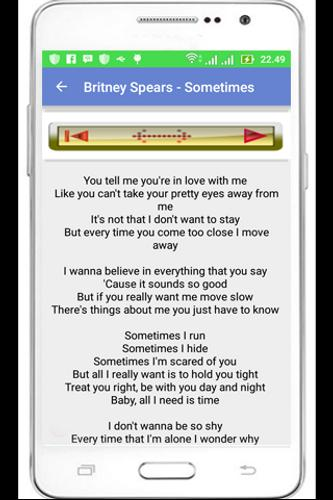 Britney spears top lyric apk download free music audio app for britney spears top lyric poster stopboris Image collections