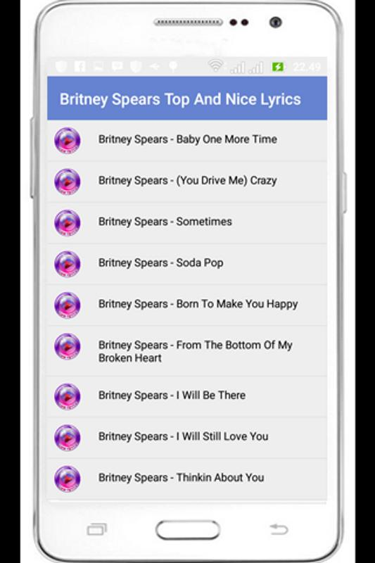 Britney spears top lyric apk download free music audio app for britney spears top lyric poster britney spears top lyric apk screenshot stopboris Image collections