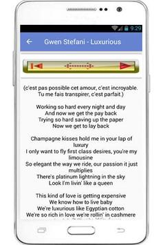 Gwen Stefani Lyrics apk screenshot