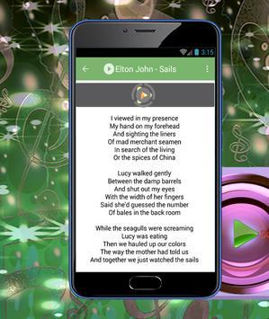 Elton John Lyrics apk screenshot