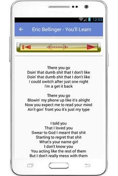 Eric Bellinger Lyrics apk screenshot