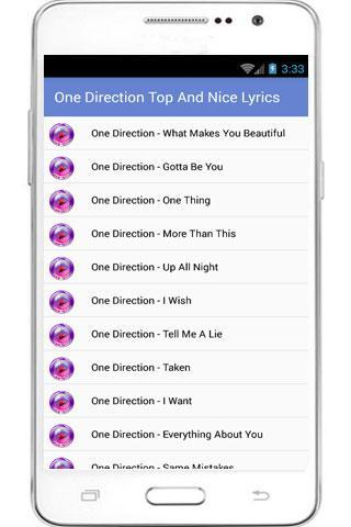 One Direction Full Lyrics for Android - APK Download