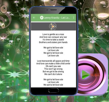 Lenny Kravitz Hits And Lyrics apk screenshot
