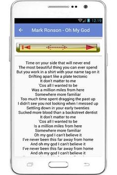 Mark Ronson Lyrics apk screenshot